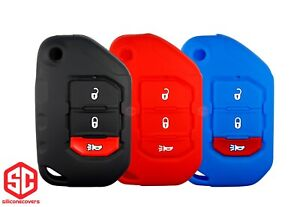 3x New Key Fob Remote Fobik Silicone Cover Fit For Jeep Gladiator Wrangler
