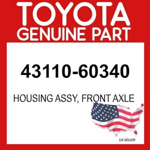 Toyota Genuine Oem 43110 60340 Housing Assy Front Axle 4311060340