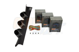 Glowshift 52mm Triple Pillar Pod Tinted 7 Gauges For 05 10 Chevy Cobalt Coupe