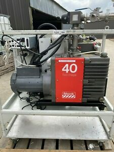 Edwards Two Stage Vacuum Pump Package Model E2m40 Hs With System Controls