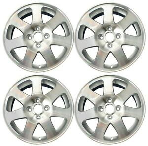 New Set Of 4 15 X 6 Cnc Silver Replacement Wheel Rim For 1999 2005 Honda Civic