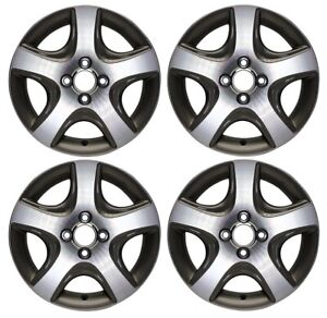 New Set Of 4 15 X 6 Replacement Wheel Rim For 2004 2005 Honda Civic