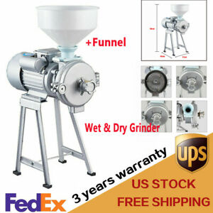 New Electric Feed Mill Wet dry Cereals Grinder Rice Corn Grain Coffee Wheat 110v