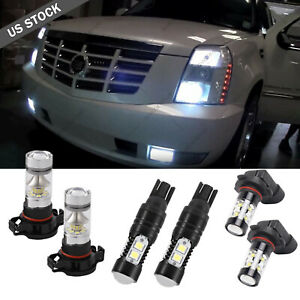 For Cadillac Escalade 07 14 6x 5202 t10 h11 Headlight Led Fog Light Bulbs Drl