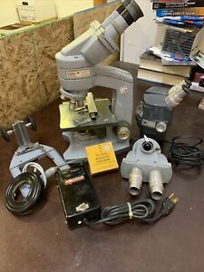 American Optical Company Fifty Vintage Microscope Lot Aristo Kodak Laboratory