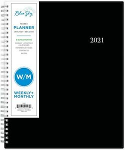 Weekly Monthly Planner Flexible Cover Twin wire Binding 8 5 X 11
