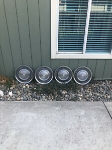 71 72 Cadillac Deville Hub Caps 15 Set Of 4 Wheel Cover Caddy Hubcaps 1971 1972