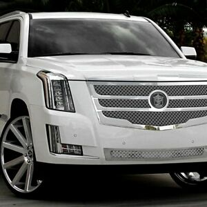 Tgcd2015 03 Chrome Grille Kit For 2015 2015 Cadillac Escalade