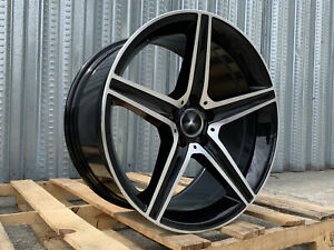 Mb9 18x8 18x9 5x112 35 Gloss Black Machined Face Set Of 4 Wheels Staggered