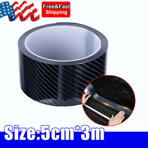 Carbon Fiber Protector Sticker Sill Scuff Cover Car Door Body Anti Scratch Strip