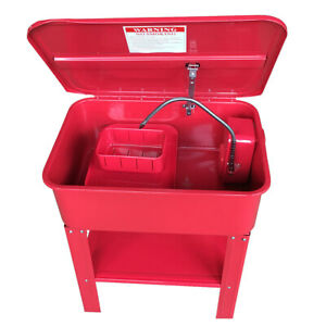 20 Gallon Automotive Parts Electric Solvent Pump Washer Cleaner With Solvent Dr