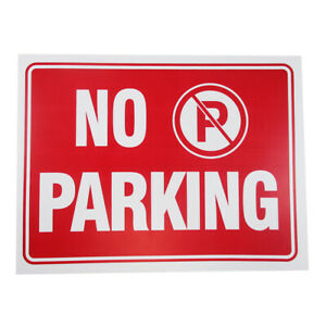 2pc No Parking Sign 9 X 12 Red White Flexible Plastic Property Building Safety