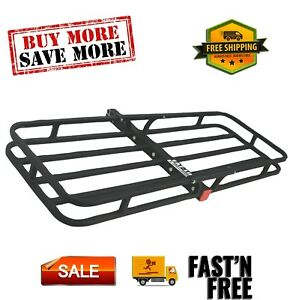 Trailer Hitch Mount Cargo Carrier 500 Lb Compatible With Any 2 Hitch Receiver
