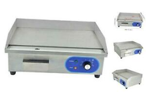 Commercial Electric Griddle Flat Top Grill Hotplate Kitchen Countertop Grill Wi