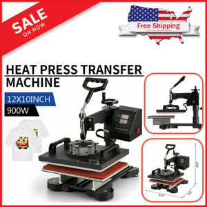 12 x10 Swing Away Digital Combo Heat Press Machine Sublimation T shirt Printing