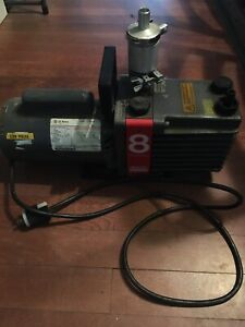 Edwards E2m8 High Vacuum Pump Model 8 Two Stage With Ge Motor 1 2 Hp