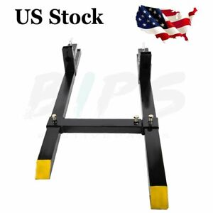 1500 Lb 60 In Pallet Forks For Loader Bucket With Stabilizer Bar Skid Steer