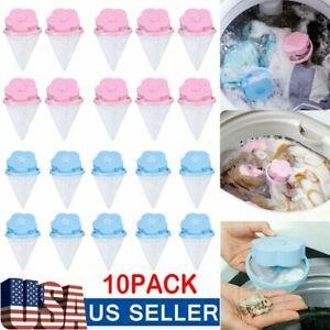 10 Pcs Fur Catcher Floating Laundry Lint Hair Remover Filter For Washing Machine