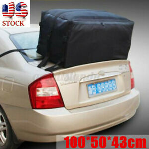 Waterproof Large Car Roof Top Tail Carrier Bag Cargo Luggage Travel Storage Rack