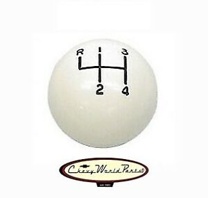 White 4 Speed Ball 5 16 18 Shift Knob For Muncie Shifters