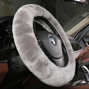 M grey Sheepskin Fur Car Steering Wheel Covers For Adults Women Men From Usa
