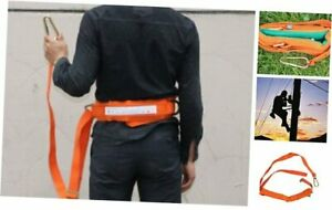 Safety Belt With Adjustable Lanyard Tree Climbing Construction Harness Protect