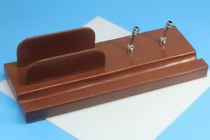Simulated Leather Desk Pen Holder And Organizer New