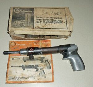 Vintage Ramset Mark Ii 4160 Powder Actuated Tool Works Extras