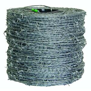 1 320 Ft 15 1 2 gauge 4 point High tensile Cl3 Barbed Wire
