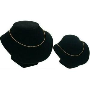 2 Black Necklace Chain Display Bust Showcase Fixture