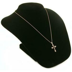 Black Velvet Necklace Bust Jewelry Counter Case Display