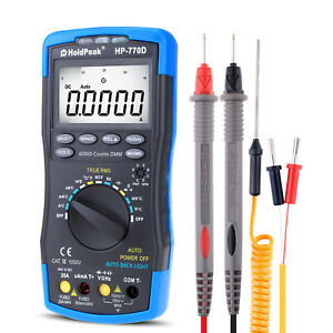 Digital Multimeter 40000count Tester Auto Range Cap Ohm Volt Amp Meter Bar Graph