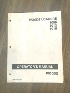 Woods Tractor Loaders 1009 1012 1016 Operator s Manual