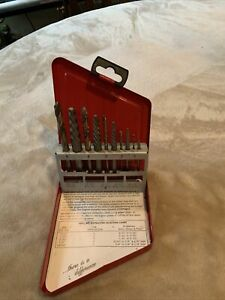 Snap On Exd10 10 Pc Extractor And Drill Set Appears 1 Tip Is Broken See Pic