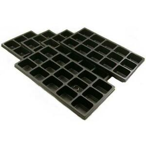 Tray Insert 15 Compartment Black Plastic 5pc