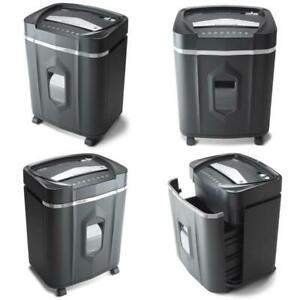 Micro Cut Paper Cd Dvd Shredder Heavy Duty Auto Reverse Quiet Home Office Supply