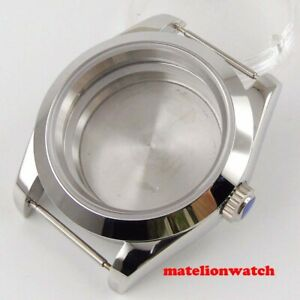 40mm Men s Watch Case Parts 316l Steel Sapphire Glass Fit Nh35 Nh36 Movement
