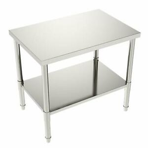 24 x36 x32 Commercial Stainless Steel Restaurant Kitchen Food Prep Work Table