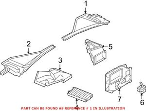 Genuine Oem Cabin Air Filter Cover For Bmw 64316945584