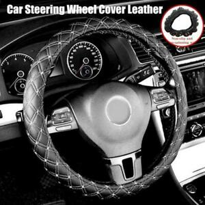 Car Steering Wheel Cover Pu Leather 38cm Non slip Protection Cover
