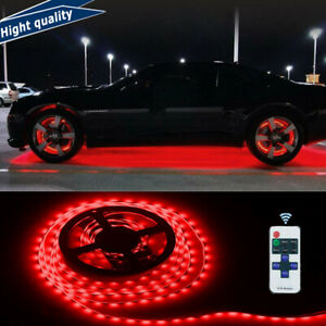Under Car Led Strip Bar Underbody Underglow Glow Red Light Auto Accessories 16ft