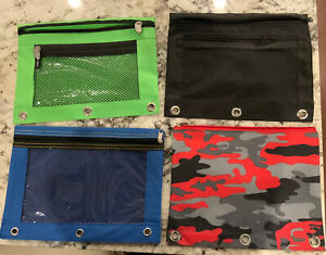 4 Pencil Cases For 3 Ring Binders