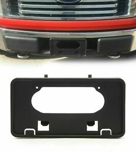 For 2009 2014 Ford F150 Front Bumper License Plate Holder Frame Mounting Bracket