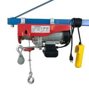 1320lb 1250w Mini Electric Wire Cable Hoist Winch Crane Lift Overhead New Mini