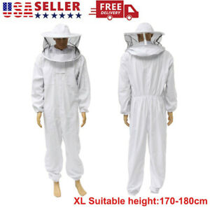 Xl Bee Keeping Suit Beekeeper Protect Jacket Safty Veil Hat All Body Equipment