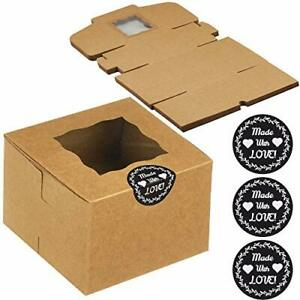 Creekcove 4 5 X 4 5 X 3 In Bakery Boxes 25 Pack Pastry Box With Window