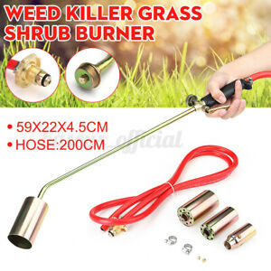 Us Weed Burner Torch Kit Shrub Grass Killer Butane Gas Garden Tool W 3 Nozzle