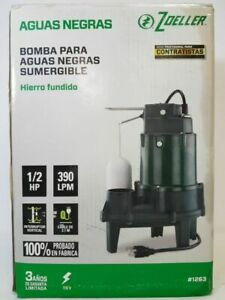 New Zoeller 1 2 Hp Submersible Cast Iron Sewage Pump