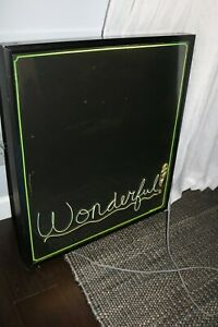 Electric Blackboard Neon Style Lighted Sign