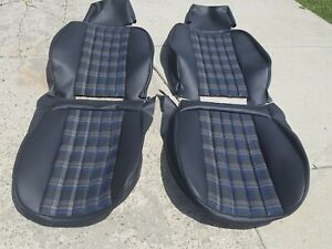 Porsche 911 912 Upholstery Seat Kit Front Rear German With Tartan Plaid New